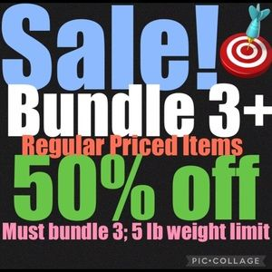 3 for 50% off bundles (items $11 and over)